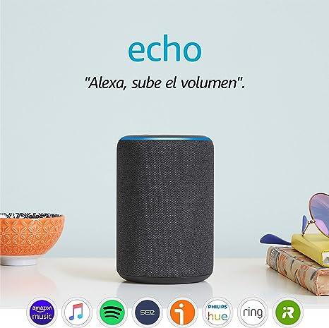 Image ofAmazon Echo (3.ª generación) - Altavoz inteligente con Alexa - tela de color antracita