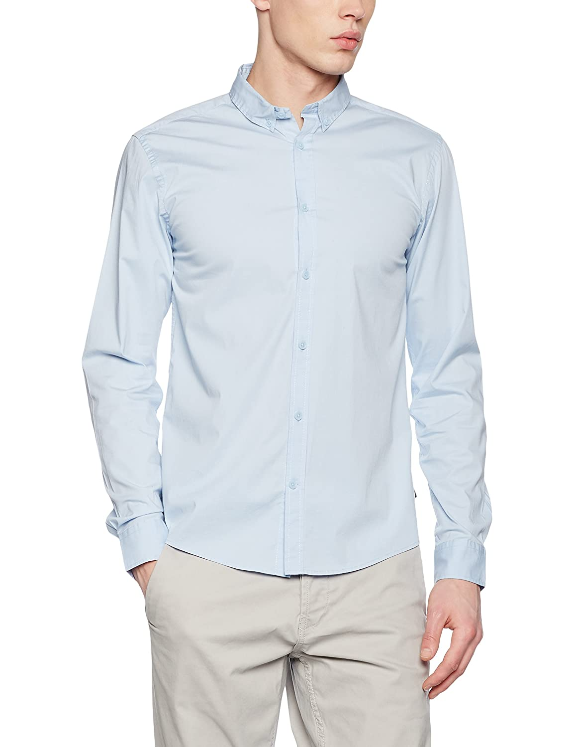 Only & Sons Onsalbiol LS Shirt Noos Camisa para Hombre