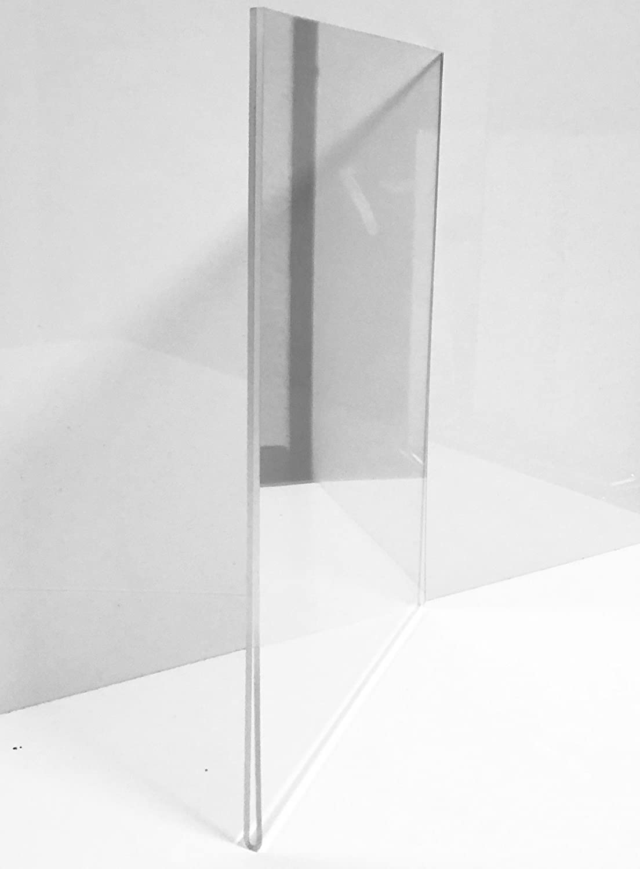 Porta poster/Portafoto/Porta retrato/Porta precios (VERTICAL) Modelo Sandwich Metacrilato 420mmx297mm (DIN A3): Amazon.es: Hogar