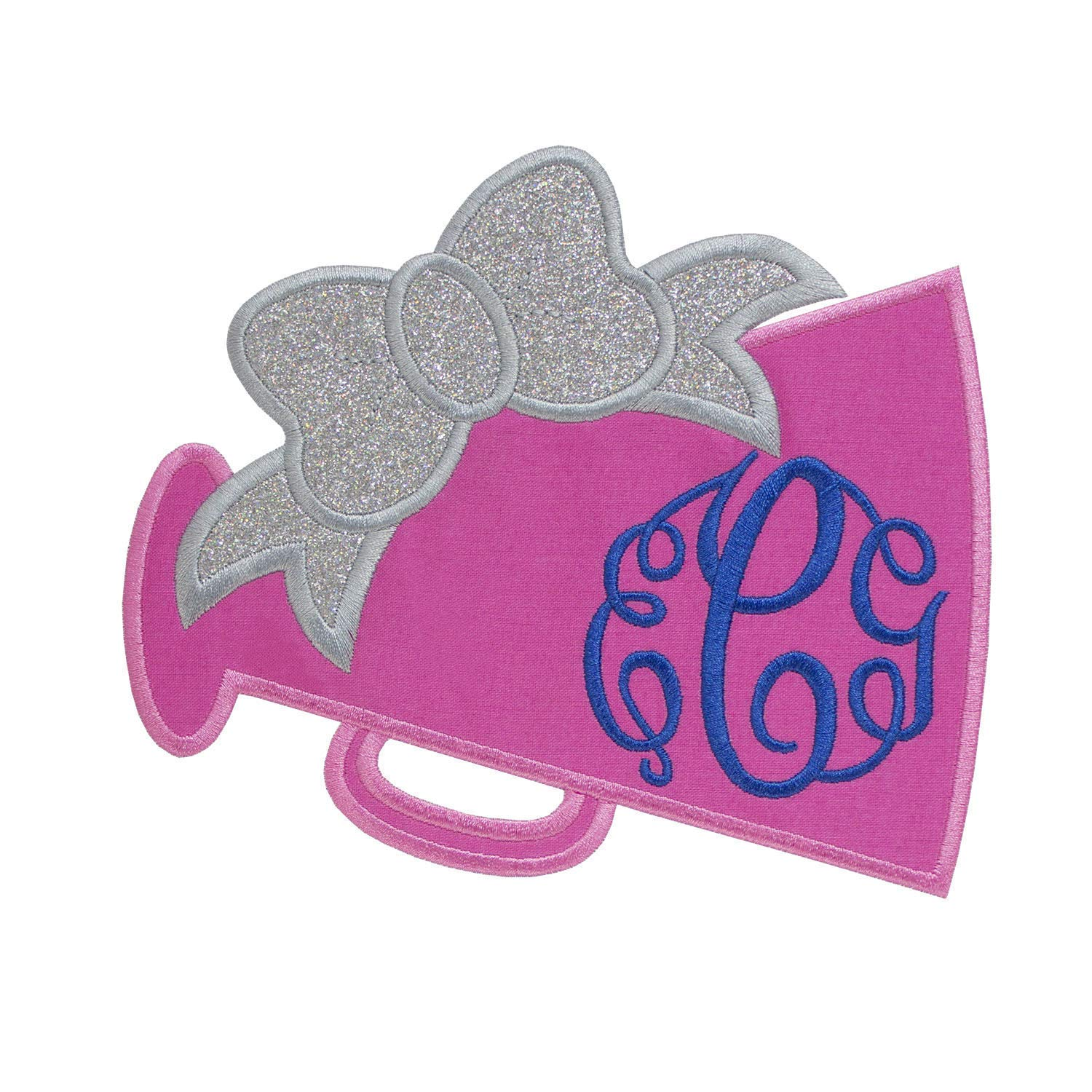 Megaphone Football Monogram Patch your choice of sew on or iron on patch