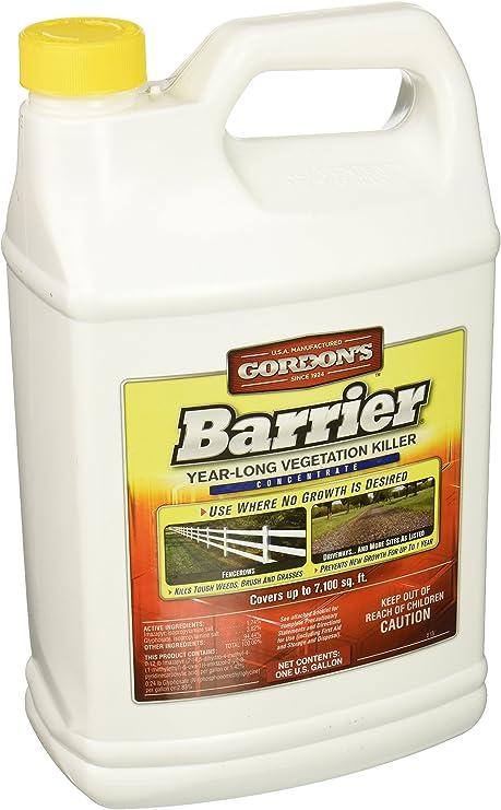Amazon Com Pbi Gordon Corp 8131072 Barrier Gallon Concentrate Year Long Vegetation Killer Weed Killers Garden Outdoor