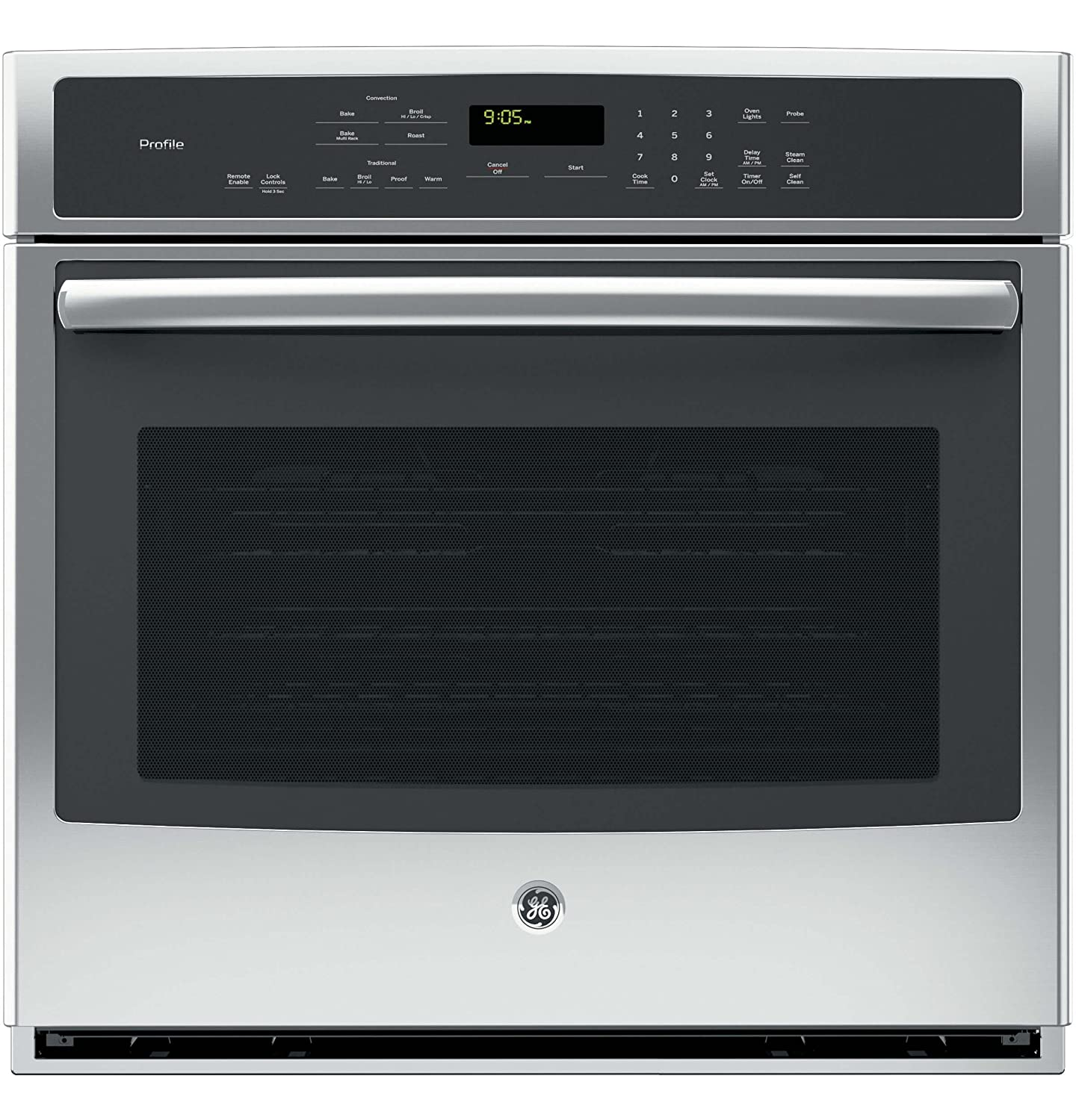 """GE PT9050SFSS Profile 30"""" Stainless Steel Electric Single Wall Oven - Convection"""