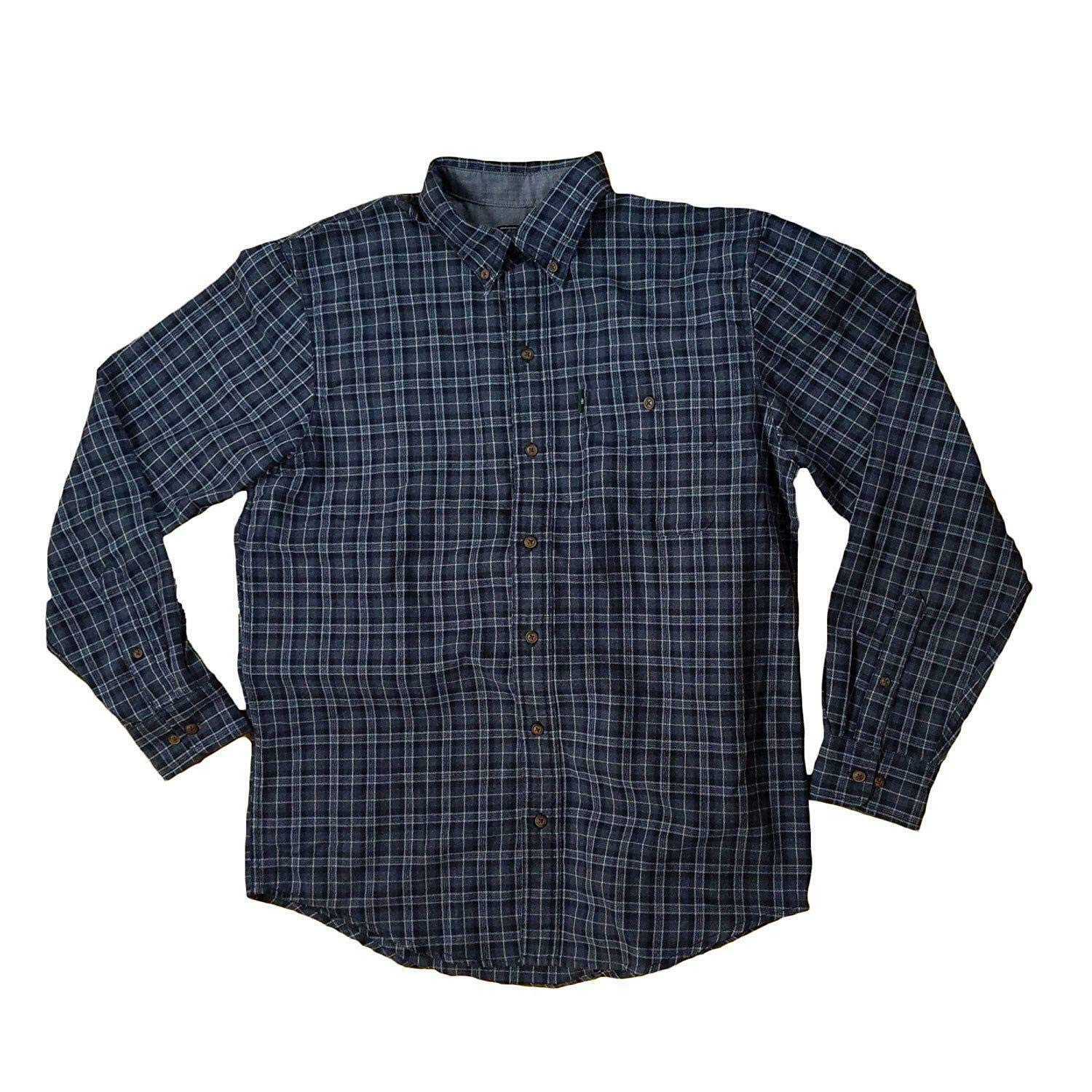 Bass /& Co G.H Mens Fireside Flannel Long Sleeve Button Down Shirt