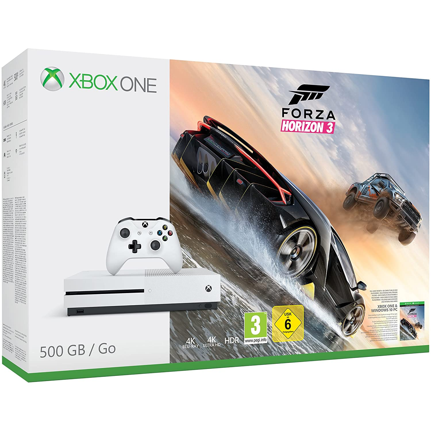 XBox One S Console - Forza Horizon 3 Bundle