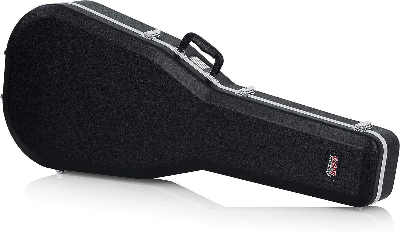 GATOR GC-DREAD-12 - Estuche para Guitarra dreadnought de 12 cuerdas (interior moldeado), color negro
