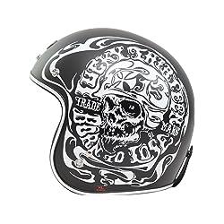 Smoke Skull Lucky 13 Open Face Helmet