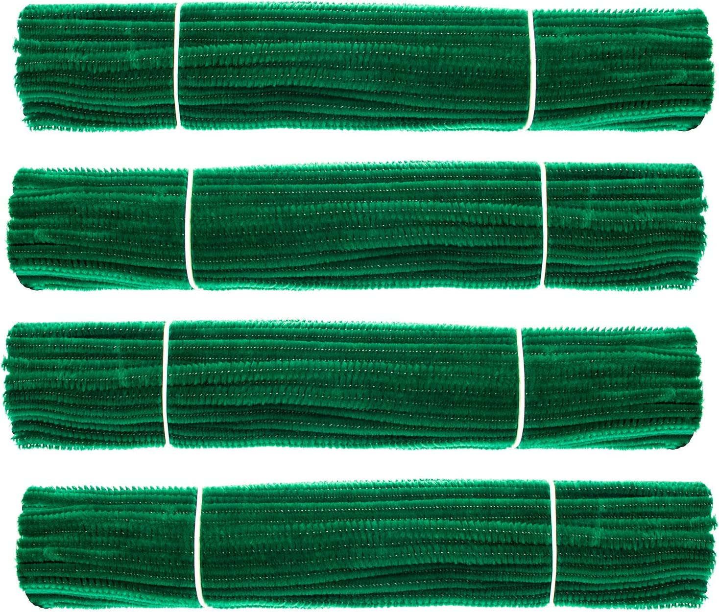 6mm x 12 Inch Waycreat 200 Pieces Pipe Cleaners Dark Green Chenille Stem for DIY Art Craft Decorations