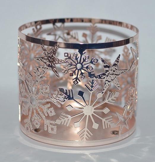 1 Bath /& Body Works ROSE GOLD FLOWER Large 3-Wick Candle Holder Sleeve 14.5 oz