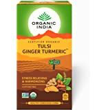 Organic India Tulsi Ginger Turmeric Tea-25 Infusion Bags