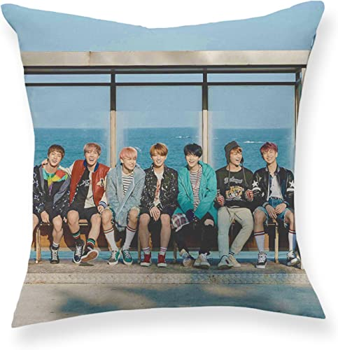 Fanstown Kpop BTS Bangtan Boys Wings You Never Walk Alone Throw Pillow Soft Velvet core Included