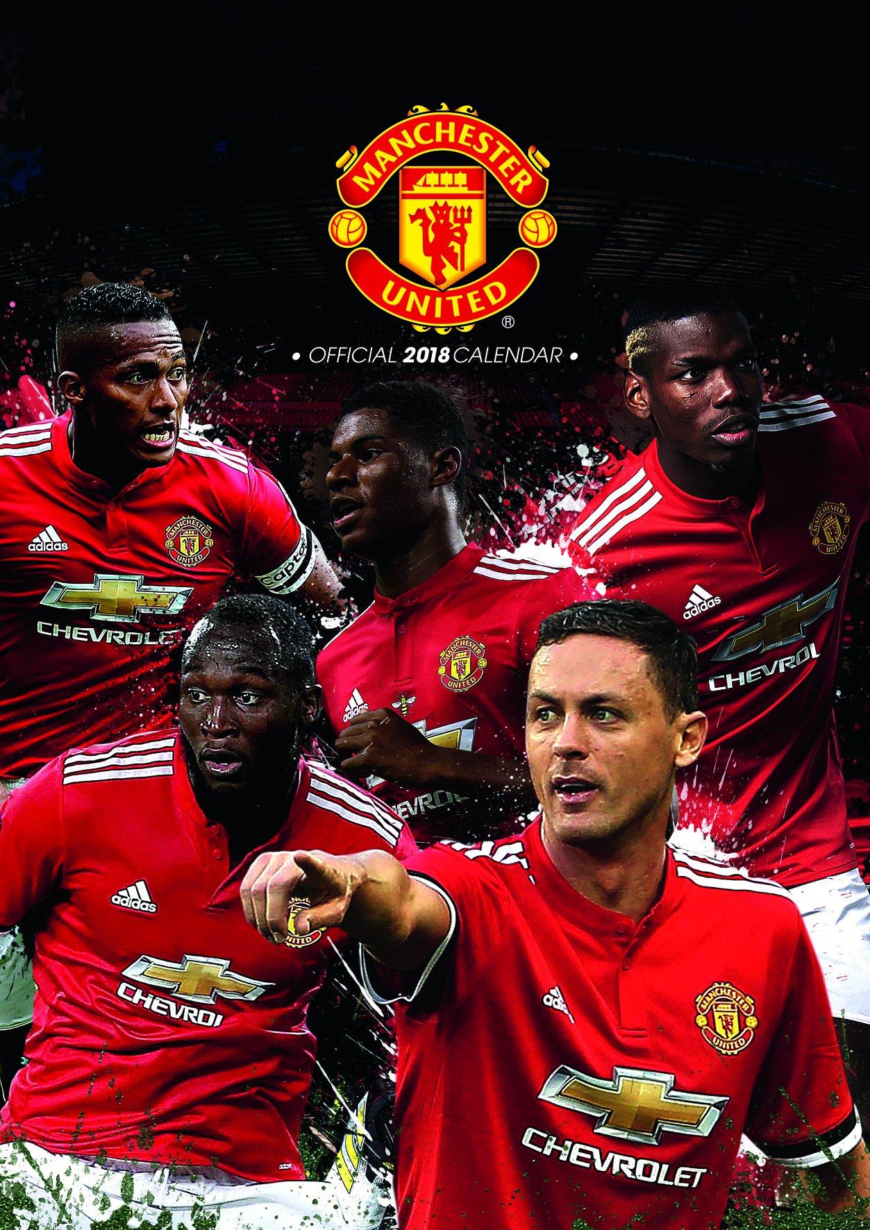 Manchester United Ficial 2018 Calendar A3 Poster Format