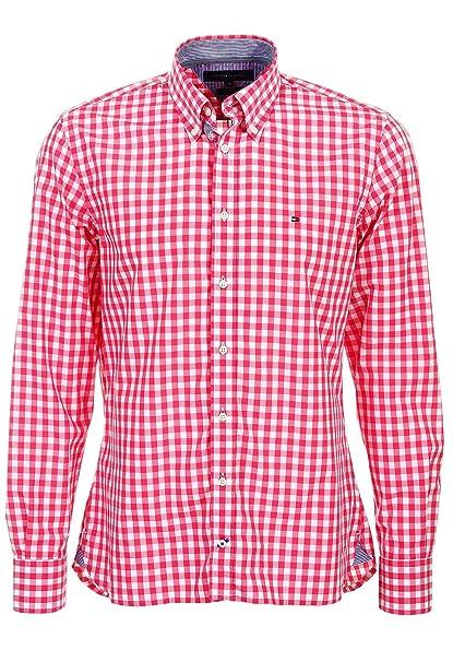 3bbaaa79c Tommy Hilfiger Brian Custom Fit - Camisa de cuadros para hombre ...