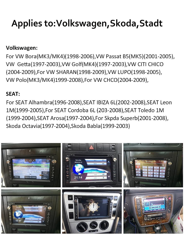AUMUME Radio para VW Seat Golf Polo Passat Pantalla con ...
