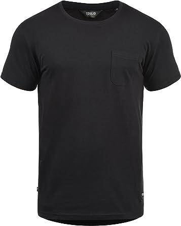 Solid Bob Camiseta Básica De Manga Corta T-Shirt para Hombre con Cuello Redondo: Amazon.es: Ropa y accesorios