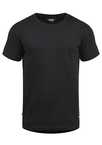 !Solid Bob Camiseta Básica De Manga Corta T-Shirt para Hombre con Cuello Redondo: Amazon.es: Ropa y accesorios