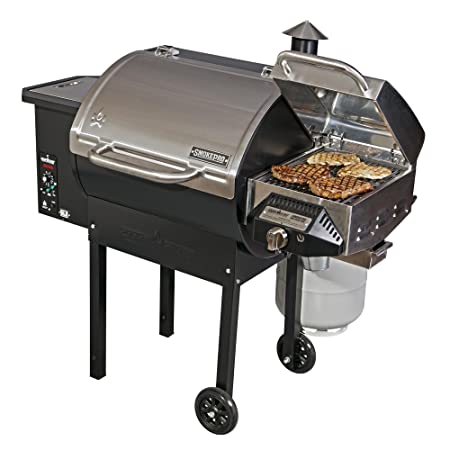 Camp Chef SmokePro DLX PG24B Pellet Grill Bronze with Sear Box – Bundle Stainless Steel