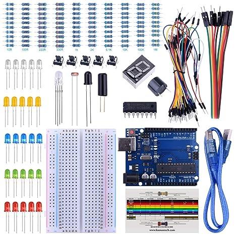 Breadboard Netzteil Adapter Modul Jumper Wire Kit Set RGB LED für Arduino TE715