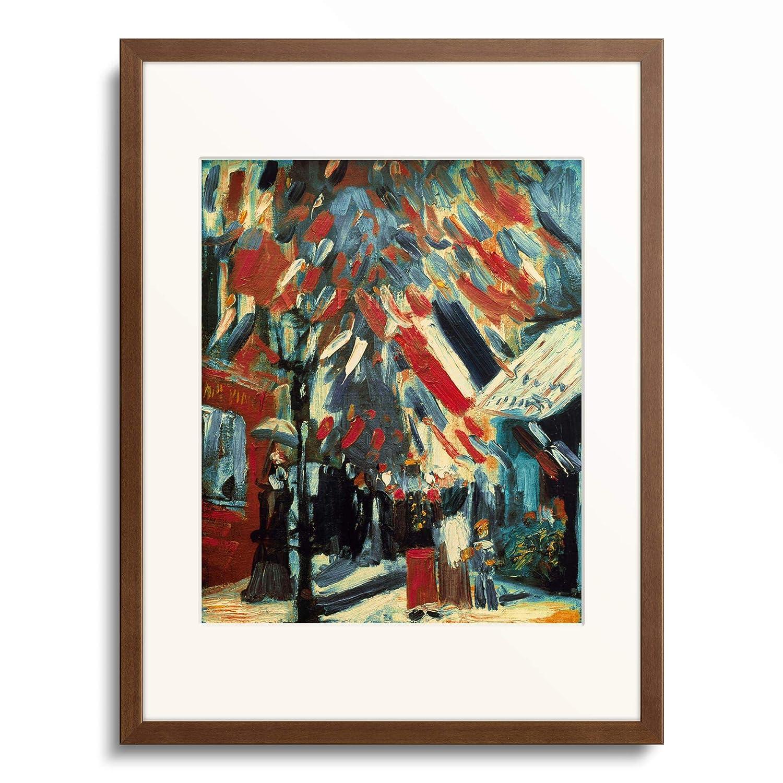 フィンセントファンゴッホ Vincent Willem van Gogh 「Le 14 Juillet」 額装アート作品 B07PD2XFVZ 11.木製額 13mm(茶) XL(額内寸 727mm×545mm) XL(額内寸 727mm×545mm)|11.木製額 13mm(茶)