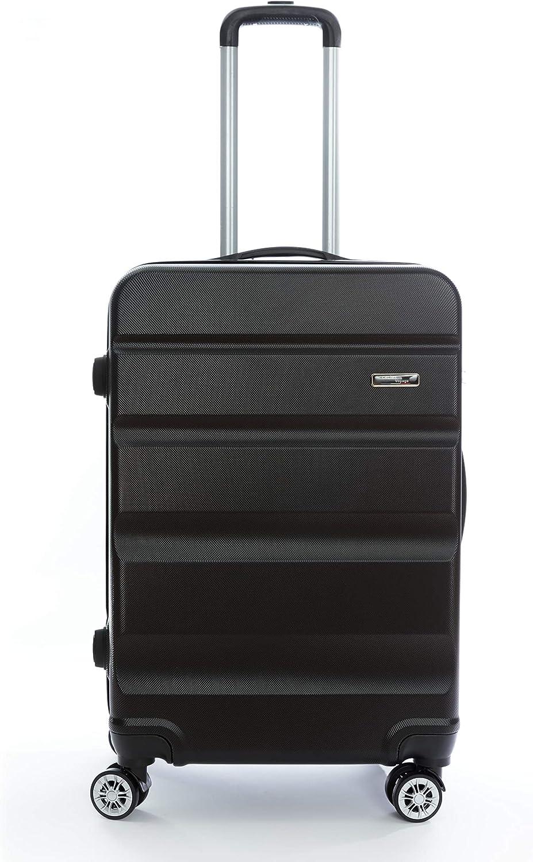 Celims Maleta 65 cm, tamaño mediano, 60 litros, Negro   (Negro) - A484