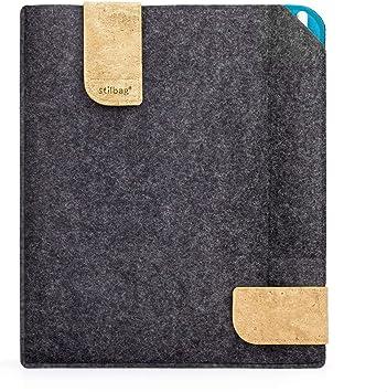 Bolsa de fieltro Stilbag para Apple iPad (2019) | Estuche de fieltro de lana Merino y corcho con compartimento Pencil | Modelo KUNO en antracita: Amazon.es: Electrónica