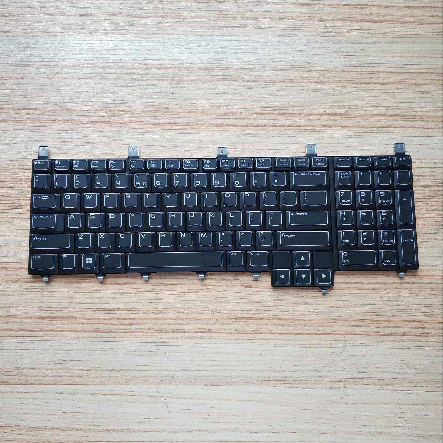 KB US Layout Keyboard for Dell Alienware M17X R3 R4 Backlight