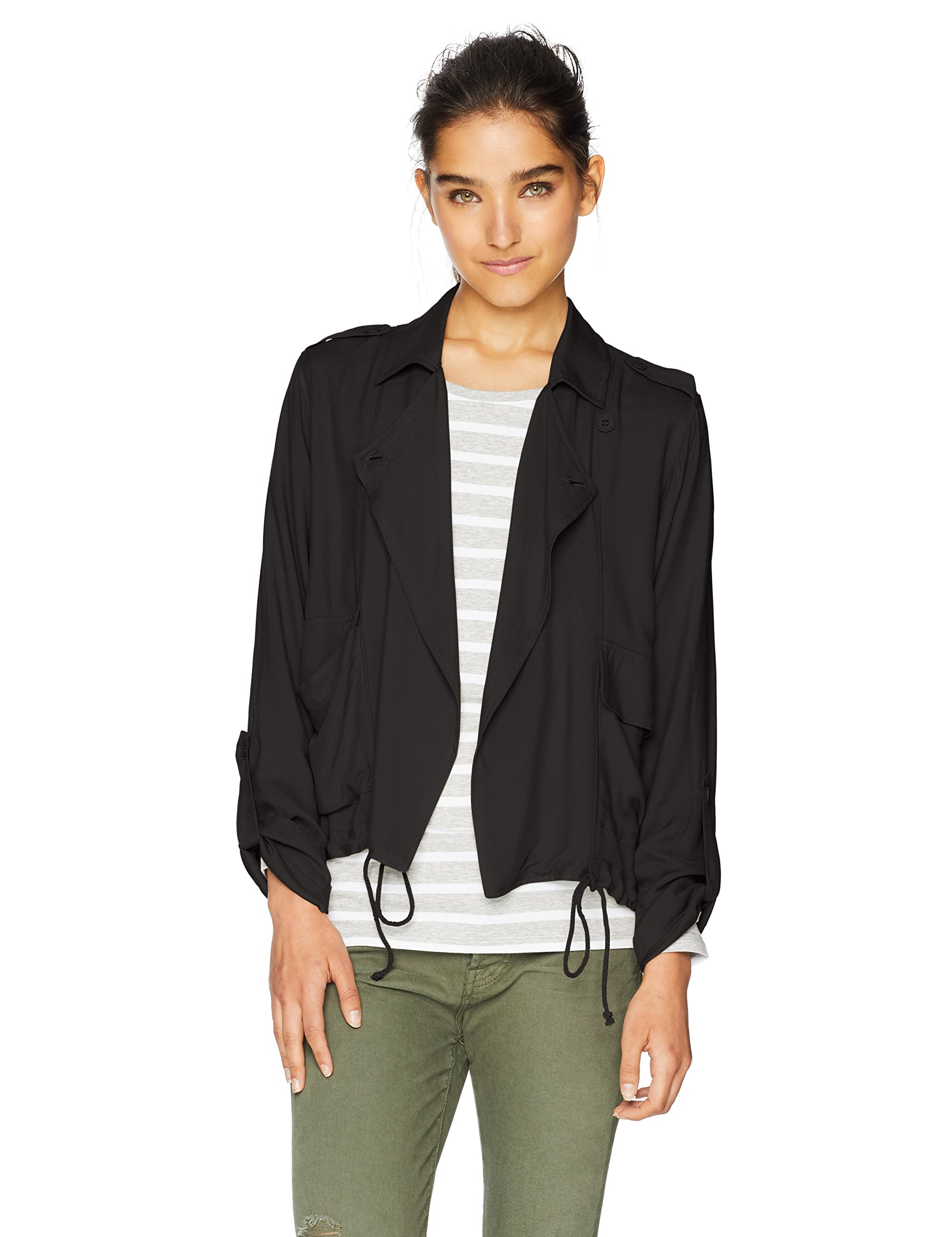Jack by BB Dakota Junior's Always and Forever Heavy Rayon Twill Jacket, Black, Small