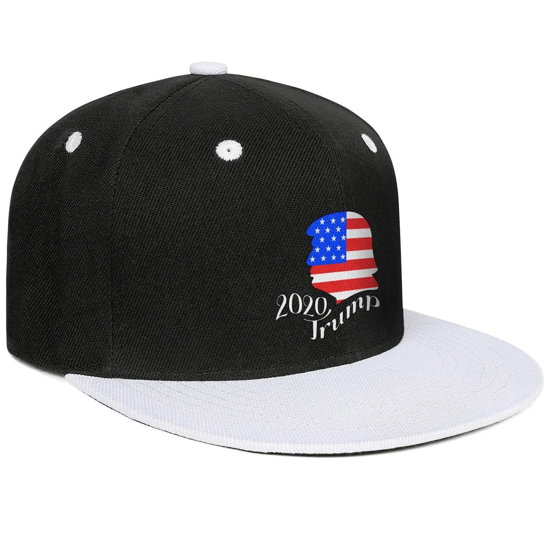 JDHASA Trump 2020 American Flag Mens Snapback Hat Baseball Caps Cool Hat Hip Hop Cap