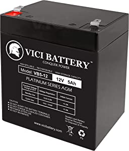 Enercell 23-945 Replacement by VICI Battery VB5-12 - 12V 5AH Sealed Lead Acid Battery
