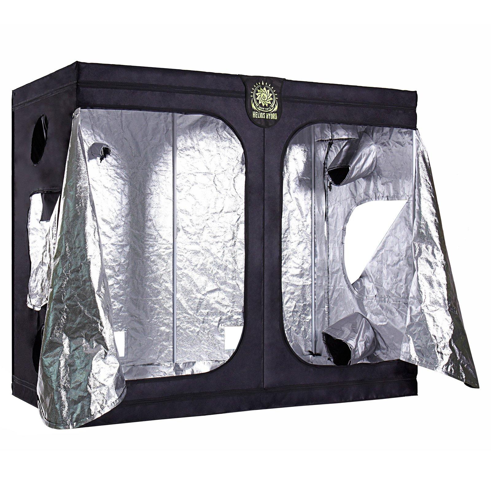 Helios 96'' x 48'' x 80'' Grow Tent – Indoor Mylar Hydroponic Plant Growing Room