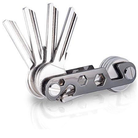 NEU - KeyTool Key Organizer Premium - Schlüsselhalter bis zu 16 Schlüssel & Smartphone Halter & Flaschenöffner (Schwarz)