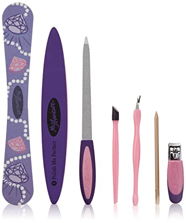 Amazon.com : Ms. Manicure Pretty in Pink Manicure Set; Wood Cuticle ...