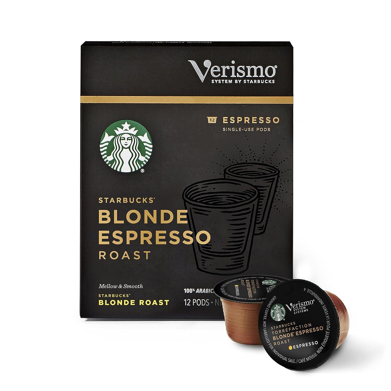 Starbucks Verismo Blonde Espresso Roast Single-Serve Verismo Pods, 6 Boxes of 12 (72 total Verismo pods)