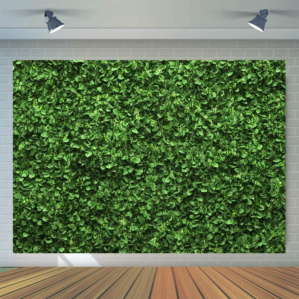 7x5ft Green Floral Leaves Backdrop Still Life Grass Leaf Pictures Background Summer Spring Jungle Party Home Decor Outdoorsy Theme Shoot Props Drop