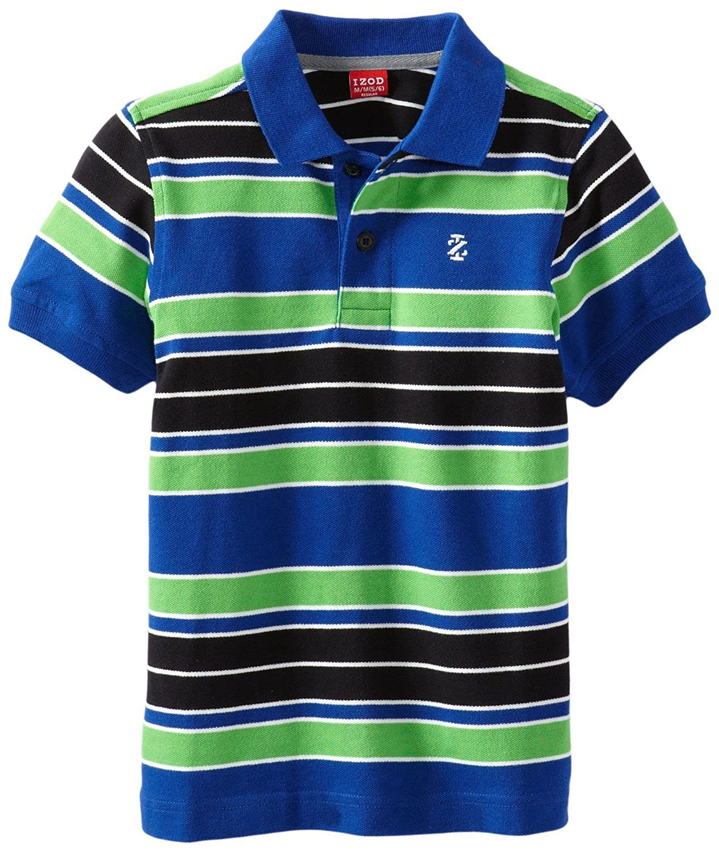 IZOD Boys Short Sleeve Pique Stripe Polo Izod Boys 8-20 Z881473Q