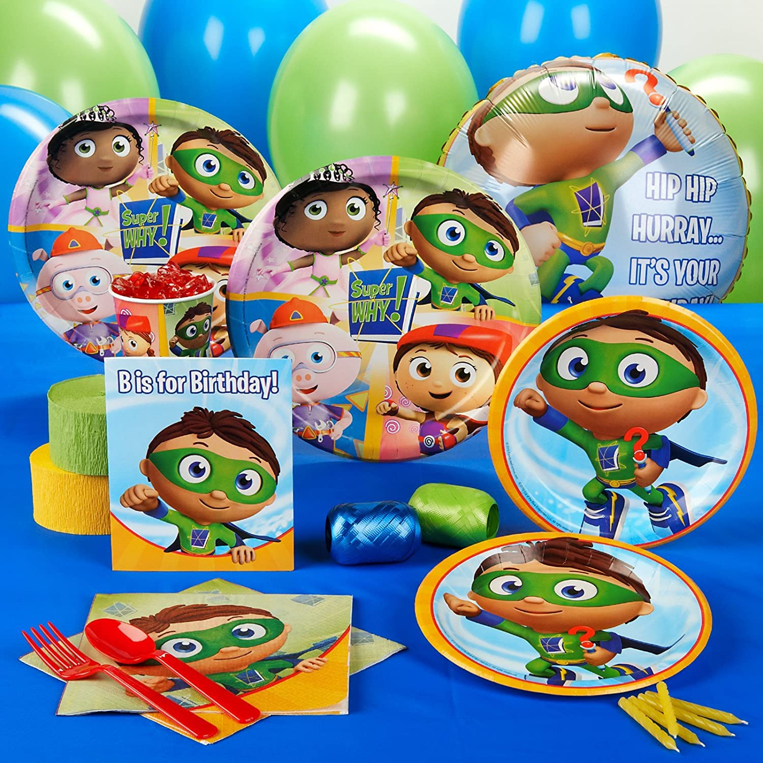 amazon com super why party supplies standard party pack for 16