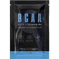 BCAA (PROBE ZITRONE LIMETTE) | Hochdosiertes Aminosäuren Pulver | Leucin | Isoleucin | Valin 2:1:1 | In Deutscher Premium Qualität | Vegan | Sensationeller Geschmack 2 Portionen