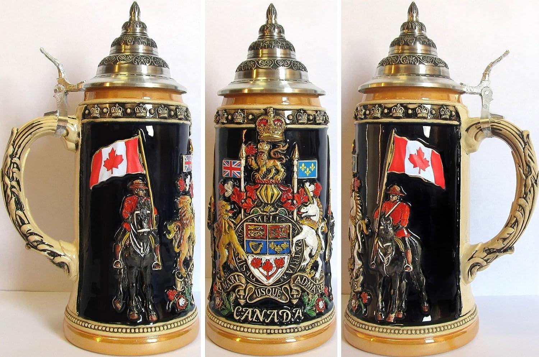 Canada Royal Coat of Arms LE German Beer Stein .75L Canadian Mounties ONE Mug Pinnacle Peak Trading Company