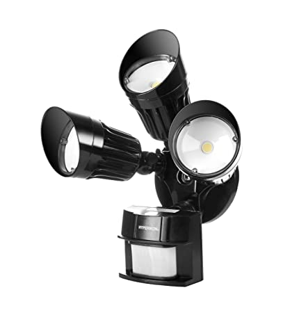 Hyperikon LED Security Light, Black, 30W (125W Equivalent) Outdoor Motion  Sensor Light