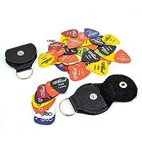 50 Plumillas para Instrumento Musical Guitarra/Bajo/Ukelele etc. de 0.58mm a 1.5mm + 2 porta Plumillas (52 piezas)