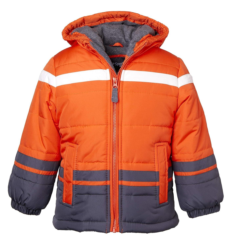 Sportoli Boys Fleece Lined Hooded Colorblock Winter Puffer Bubble Jacket Coat
