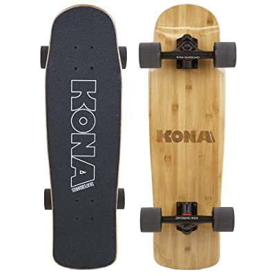 KONA SURF CO. Bamboo Series Cruiser Complete Skateboard for Kids and Adults : Sports & Outdoors