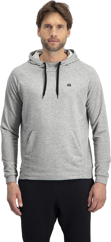 Dry Fit Mens Hoodies Pullover Workout Sweatshirts for Men w//Adjustable Hoodie