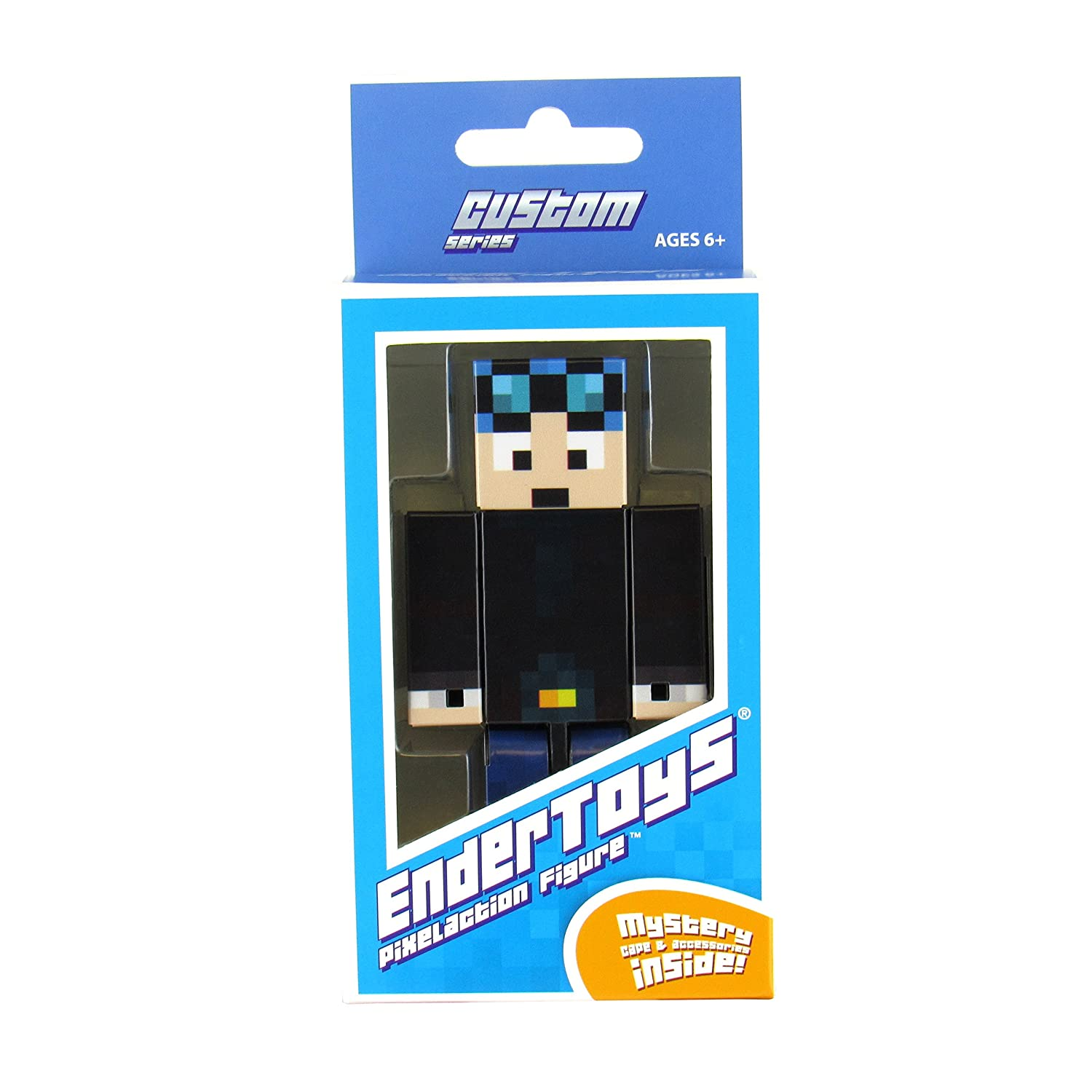 Amazoncom Endertoys Blue Hair Miner Boy Action Figure Toy 4 Inch