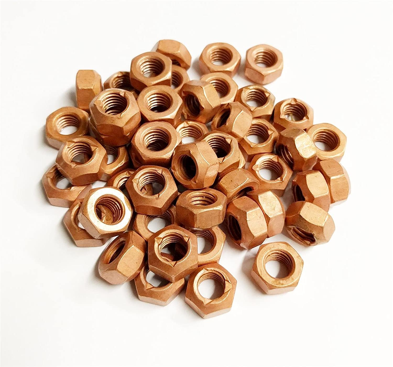 Other 50x M10 Copper Flashed Exhaust Manifold 10mm Nut - High Temperature Nuts AutoPower