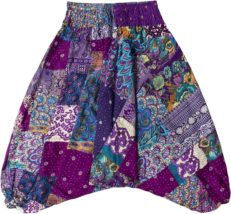 Lofbaz Pantaloni Harem Patch per Bambini