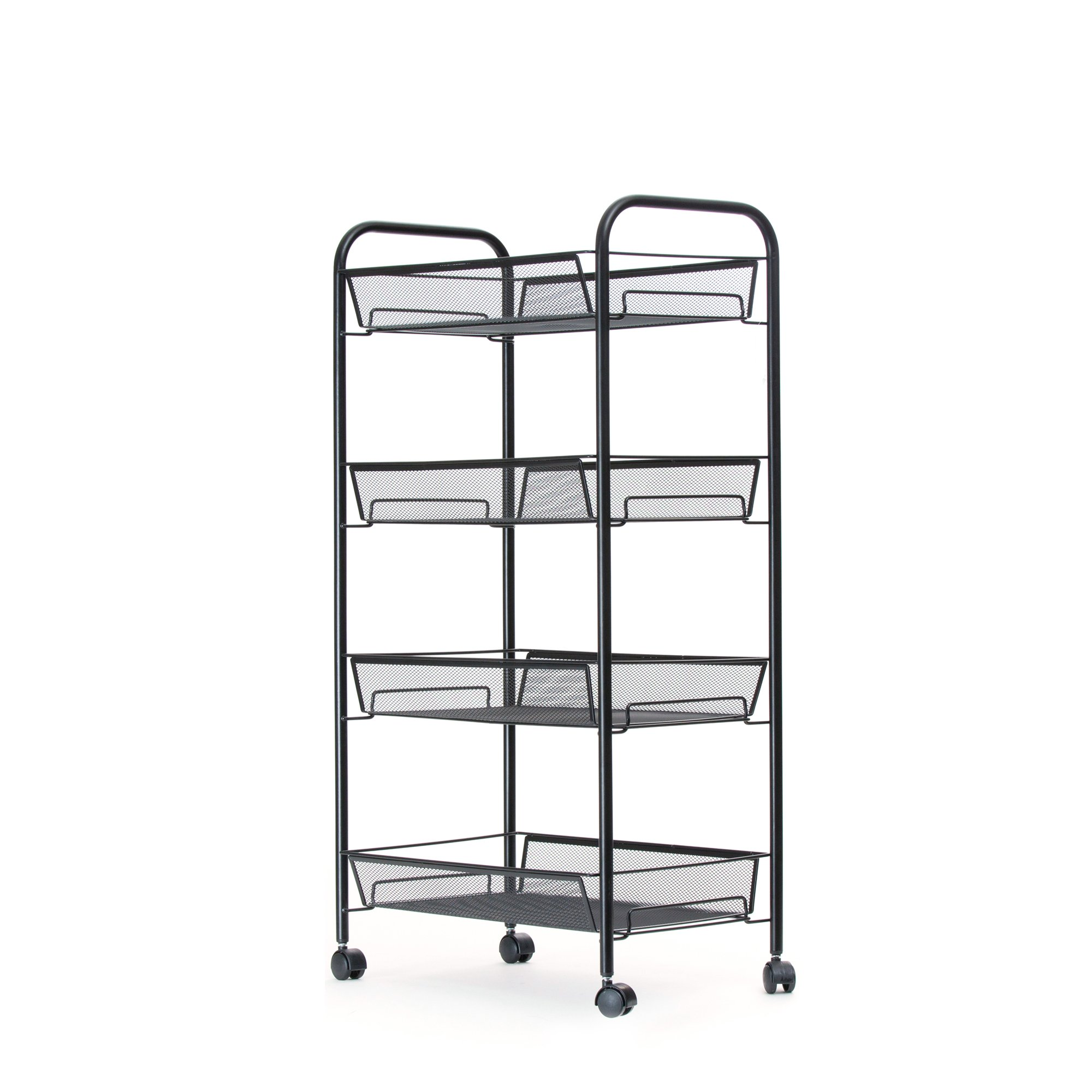 Mind Reader Metal 4 Tier all-Purpose Utility Cart, Black by Mind Reader (Image #1)