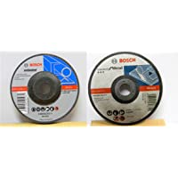 Bosch AG4 Metal 4-inch Cut Off Wheel Set (White, Pack of 10) & Bosch BI241 Metal 4-inch Grinding Wheel Set (Multicolor, Pack of 5)