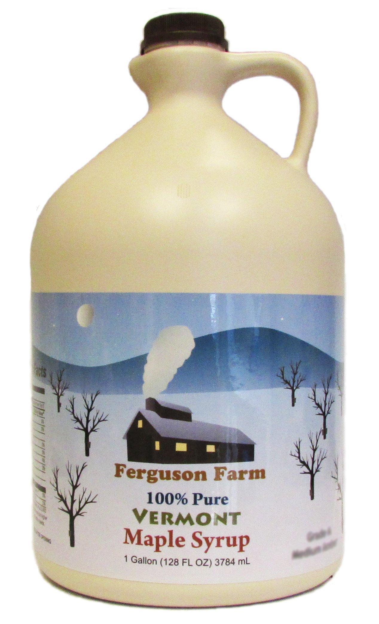Ferguson Farms 100% Pure Vermont Maple Syrup, Grade A Medium, Jug 1 Gallon (128oz)