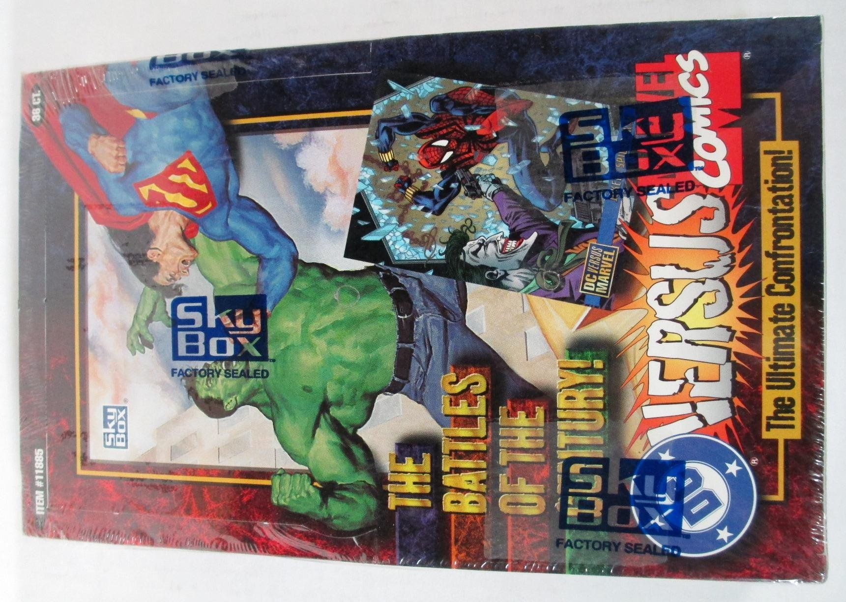 DC Versus Marvel Comics Trading Cards Box Set - 36 Packs by Spider-Man