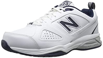 New Balance Men's 623v3 Training Shoe, White/Navy, 10.5 4E US
